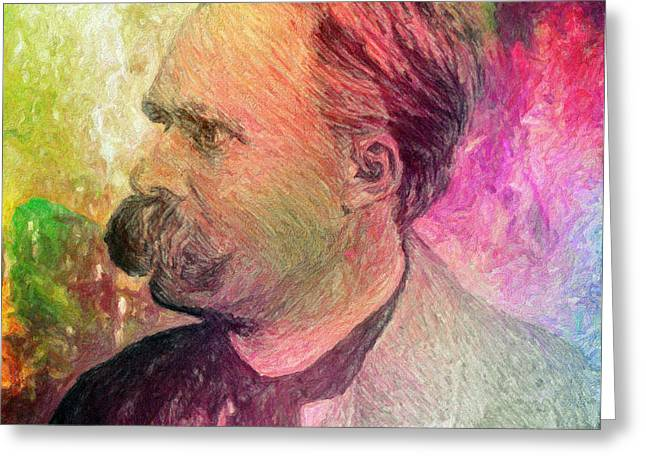 F.w. Nietzsche Greeting Card by Taylan Apukovska