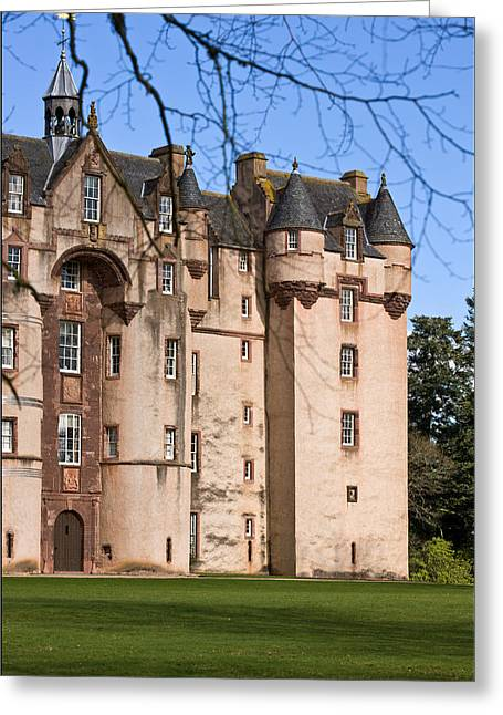 Greeting Card featuring the photograph Fyvie Castle In Scotland by Liz  Alderdice