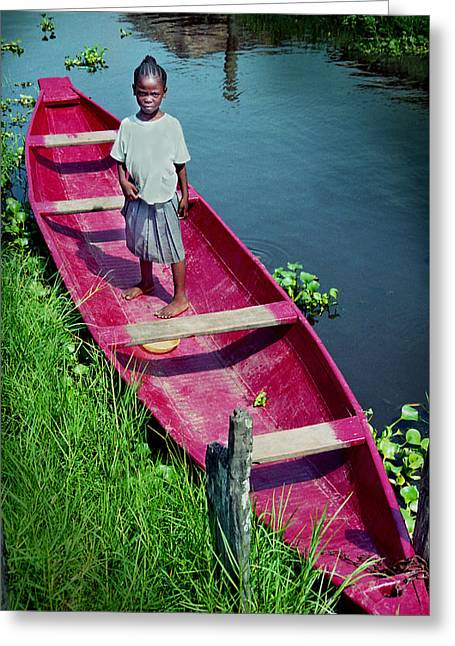Dad's Canoe Greeting Card