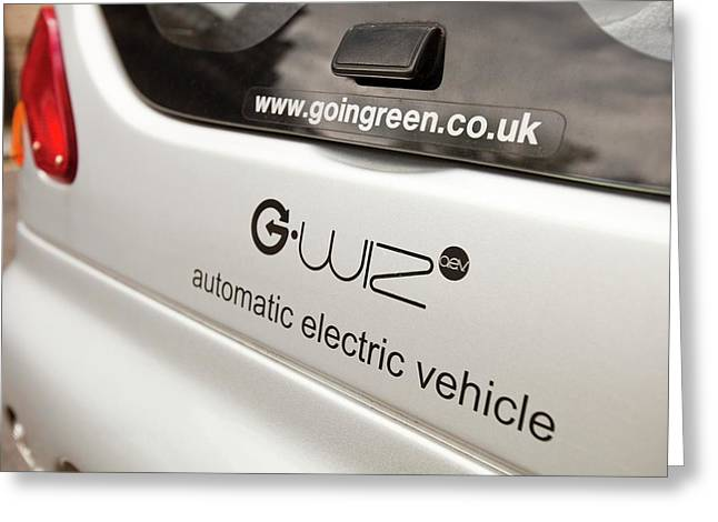 G Wizz Electric Car Greeting Card by Ashley Cooper