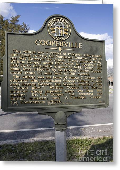 Ga-124-13 Cooperville Greeting Card by Jason O Watson