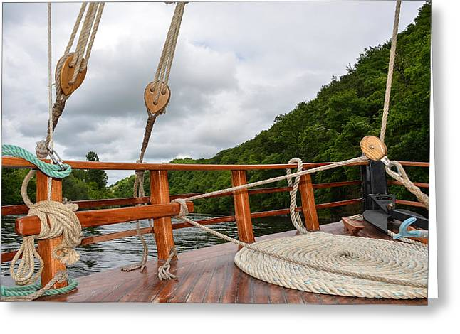 Greeting Card featuring the photograph Boat Rope by Dany Lison