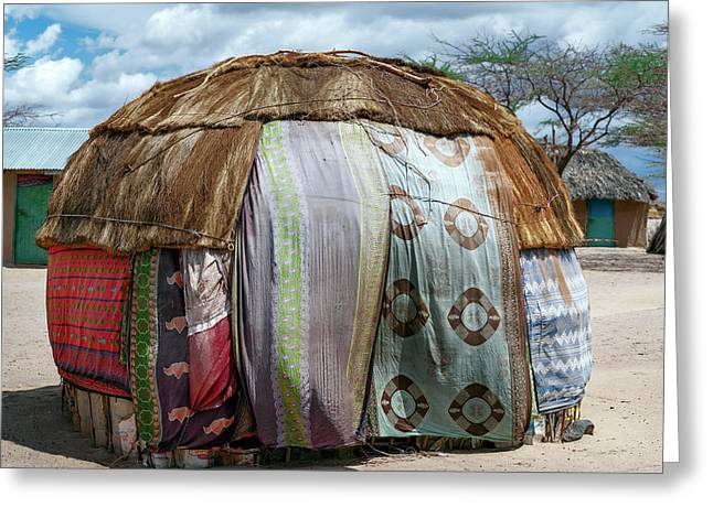 Gabra Hut Greeting Card