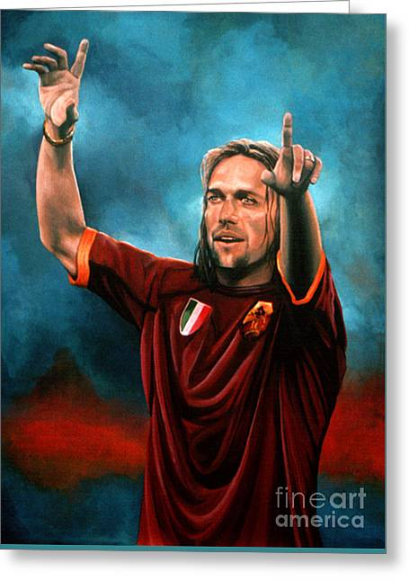 Gabriel Batistuta Greeting Card by Paul Meijering
