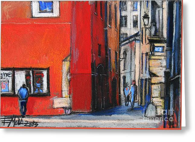 Gadagne Museum Facade In Lyon France Greeting Card by Mona Edulesco