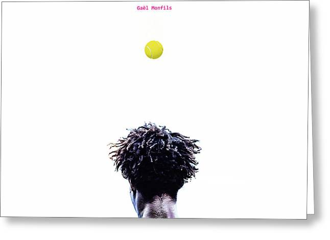 Gael Monfils Greeting Card by Nishanth Gopinathan