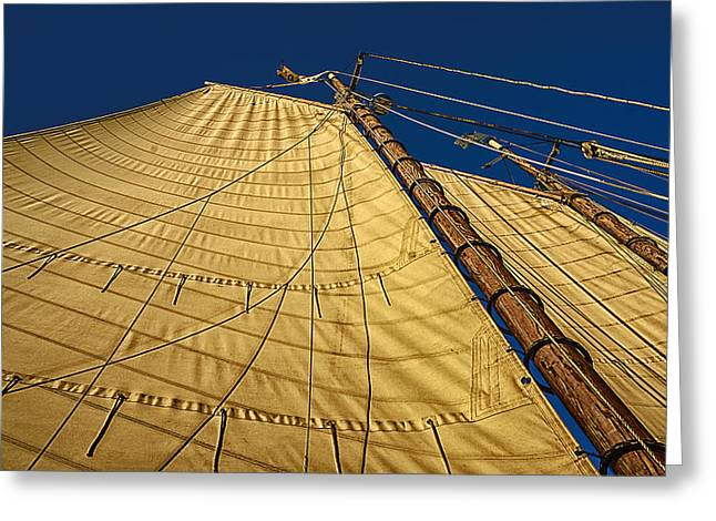 Gaff Rigged Mainsail Greeting Card