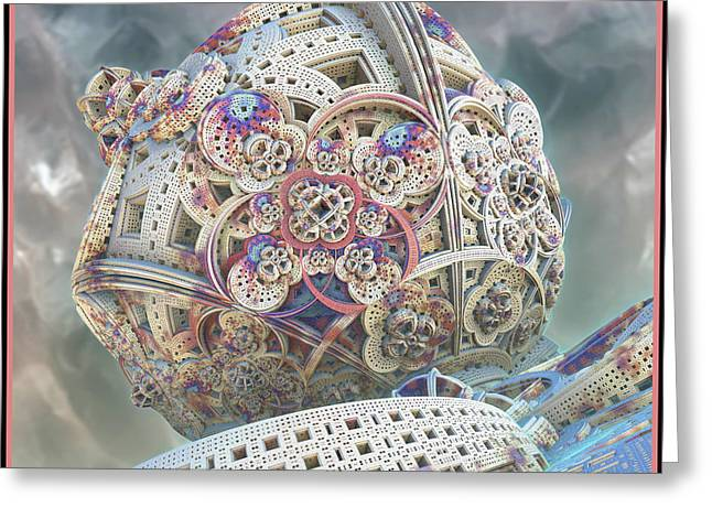 Greeting Card featuring the digital art Gaia by Melissa Messick