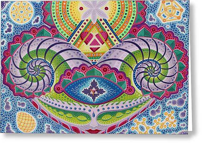 Gaian Mind Greeting Card by Christopher Sheehan