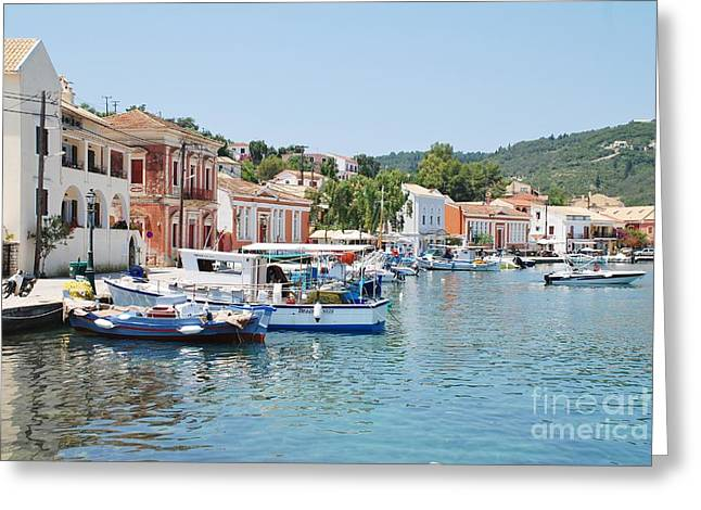 Gaios Harbour On Paxos Greeting Card