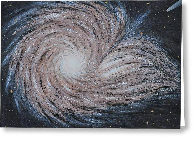 Galactic Amazing Dance Greeting Card by Georgeta  Blanaru