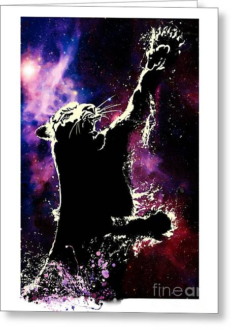 Galactic Tiger Greeting Card