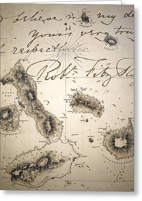 Galapagos Admiralty Map By Fitzroy Beagle Greeting Card