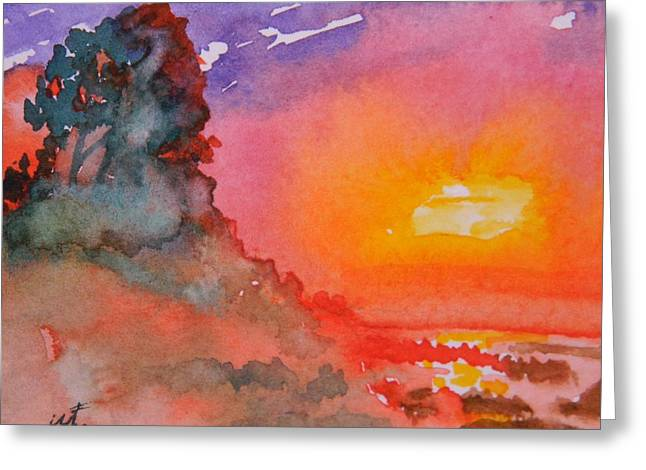 Galapagos Sunset Greeting Card by Warren Thompson