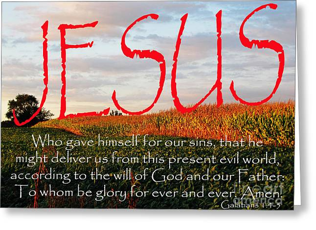 Galatians 1 Four To Five Greeting Card