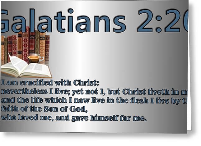 Galatians 2 20 Greeting Card by Ricky Jarnagin