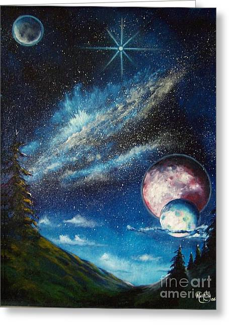 Galatic Horizon Greeting Card by Murphy Elliott
