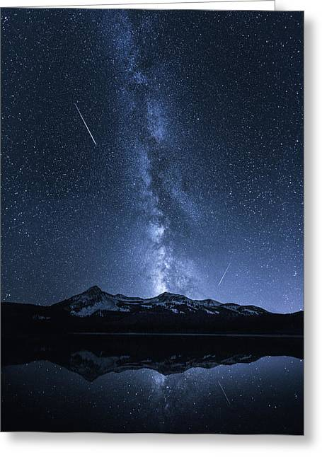 Galaxies Reflection Greeting Card