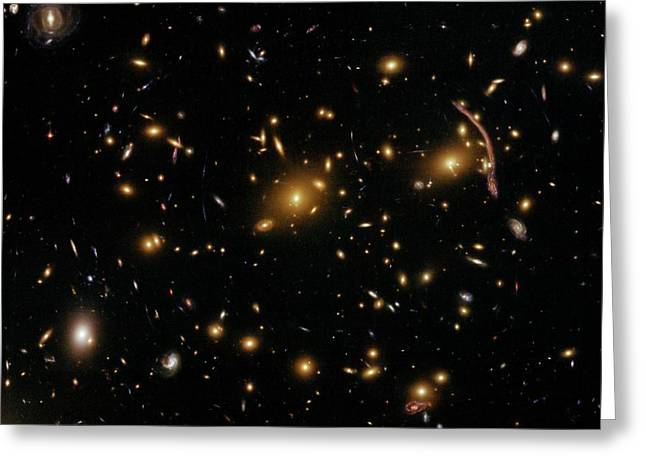 Galaxy Cluster Abell 370 Greeting Card by Nasa/esa/stsci/hubble Sm4 Ero Team/st-ecf