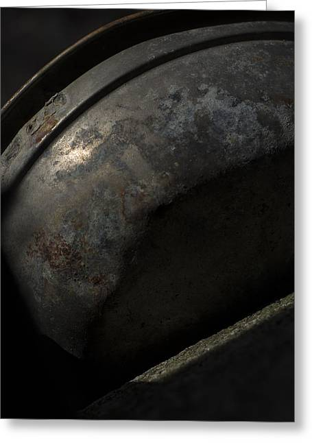 Galaxy In A Galvanized Pan Greeting Card by Rebecca Sherman