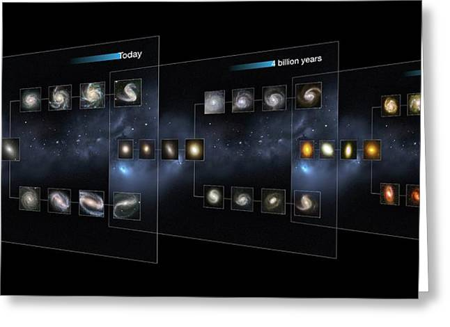 Galaxy Morphology Greeting Card by European Space Agency/nasa/m. Kornmesser