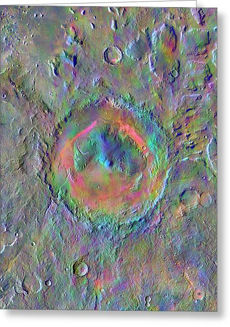Gale Crater Greeting Card by Nasa/jpl-caltech/asu