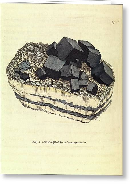 Galena Crystals Greeting Card by Royal Institution Of Great Britain