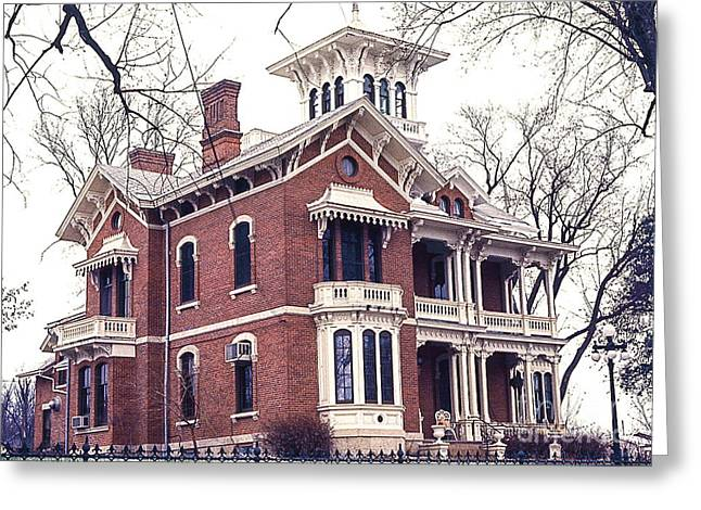 Galena Illinois. The Beautiful Victorian Belvedere Home. Greeting Card
