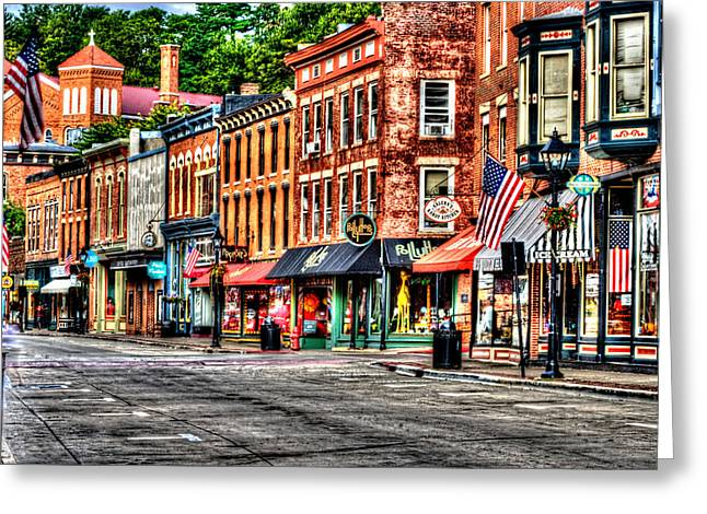 Galena Main Street Early Summer Morning Greeting Card