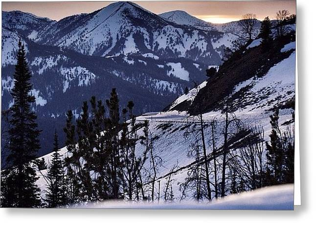 #galena #sunsets #idaho #mountains Greeting Card by Cody Haskell