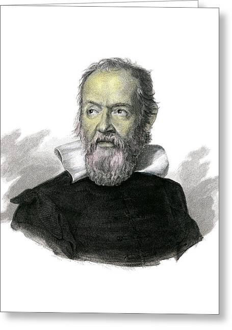 Galileo Galilei Greeting Card by Detlev Van Ravenswaay