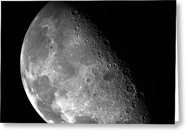 The Moon Imaged By Galileo Greeting Card