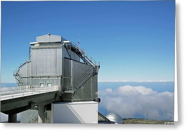 Galileo National Telescope Greeting Card by Tony Craddock