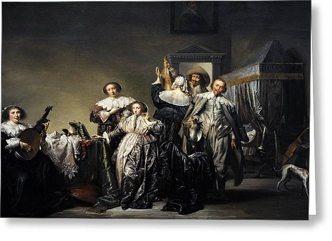 Gallant Company, 1633, By Pieter Codde 1599-1678 Greeting Card