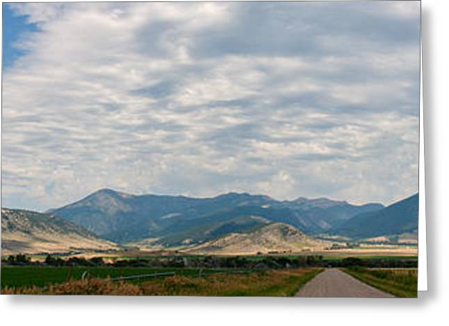 Gallatin Range Panoramic Greeting Card by Charles Kozierok