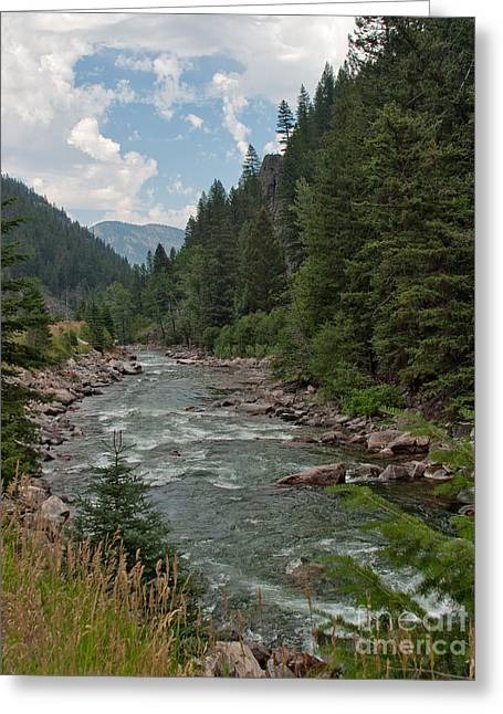 Gallatin River Ripples Greeting Card