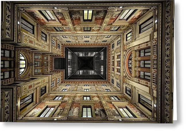 Galleria Sciarra Greeting Card by Renate Reichert