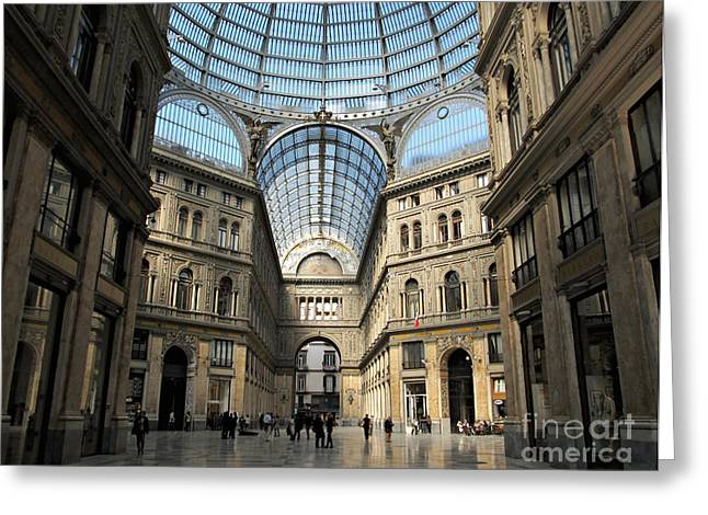 Galleria Umberto I Greeting Card by Kiril Stanchev