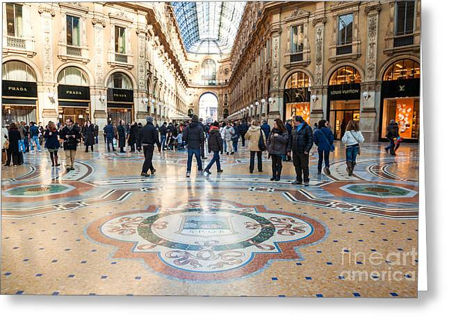 Galleria Vittorio Emanuele II - Milan - Italy Greeting Card by Matteo Colombo