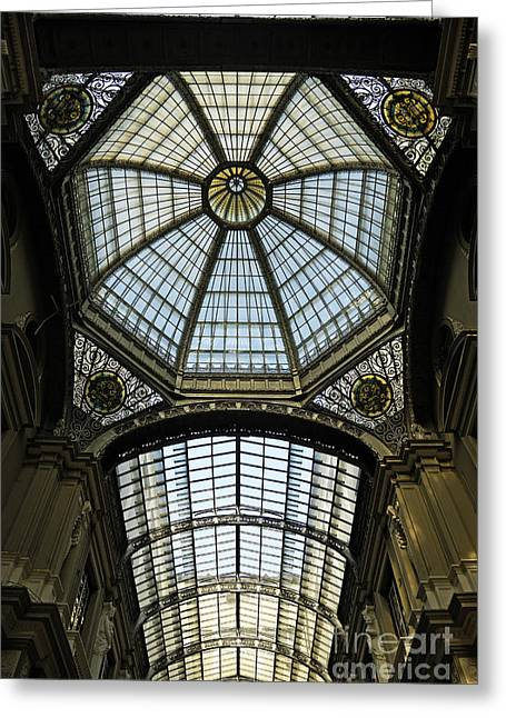 Gallery Glass Roof Of The City Hall Building Greeting Card by Sami Sarkis