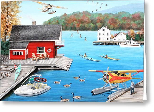 Galloping Goose Lake Greeting Card