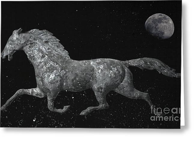 Galloping Through The Universe Greeting Card by John Stephens