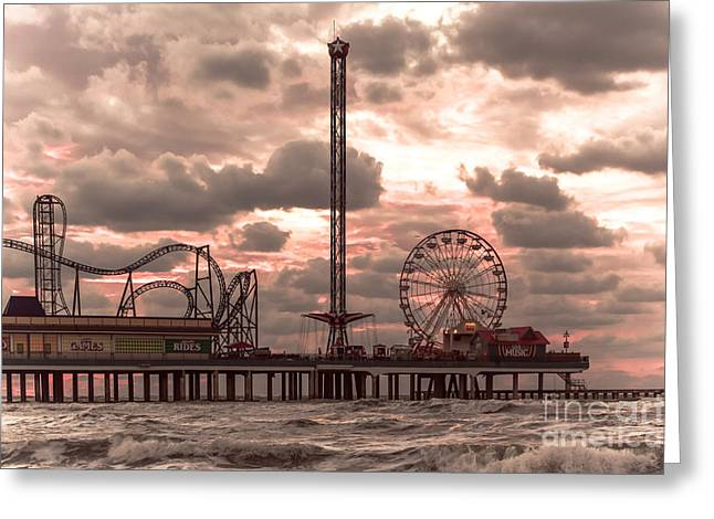 Galveston Island Morning Greeting Card by Robert Frederick