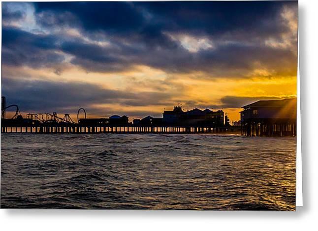 Greeting Card featuring the photograph Galveston Pleasure Pier by Allen Biedrzycki