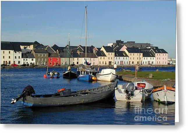 Galway Harbour At The Claddagh Greeting Card