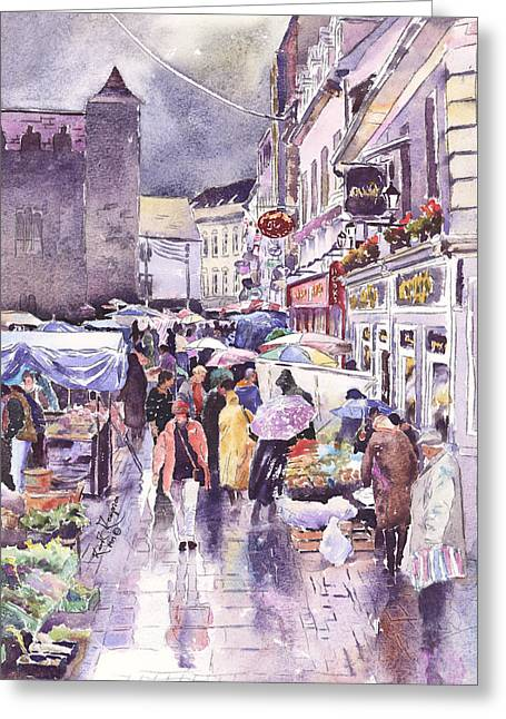 Galway Market County Galway Ireland Greeting Card by Keith Thompson