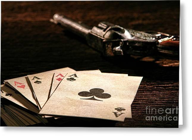 Gambler Danger  Greeting Card by Olivier Le Queinec