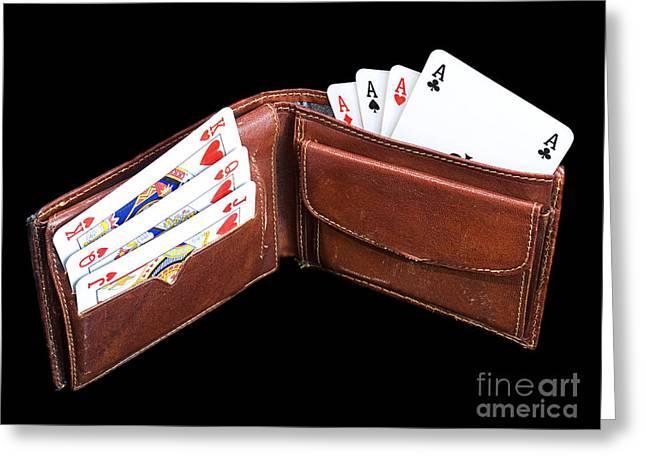 Gambling Wallet Greeting Card