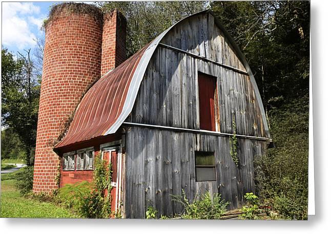 Gambrel-roofed Barn Greeting Card by Paul Mashburn