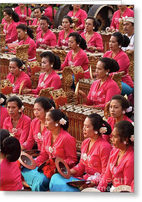 Gamelan 01 Greeting Card by Rick Piper Photography